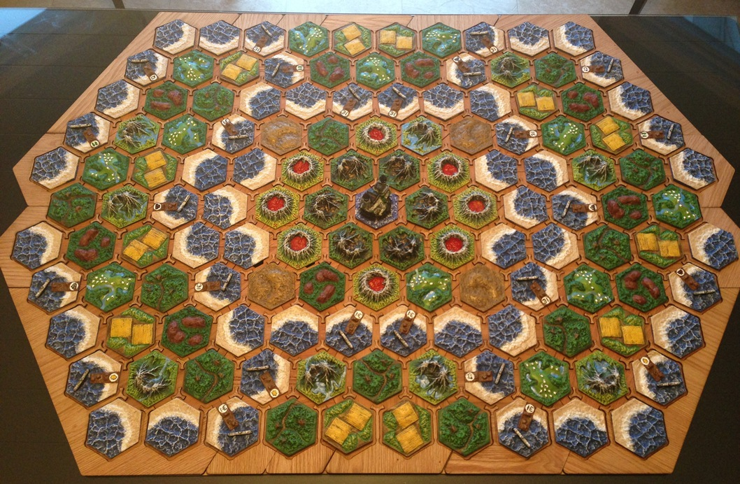 graphic about Settlers of Catan Printable identified as Prawn Patterns - Hex Board Design 1 within just employ with Settlers of Catan