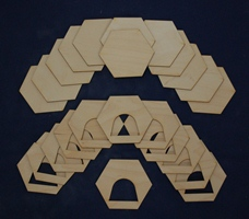 PD-11009 Hex Set with Half Circle Shaped Hole